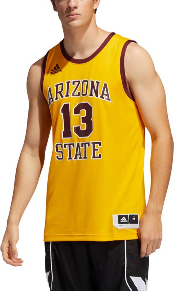 adidas Men's Arizona State Sun Devils James Harden #13 Gold Retro Basketball Jersey