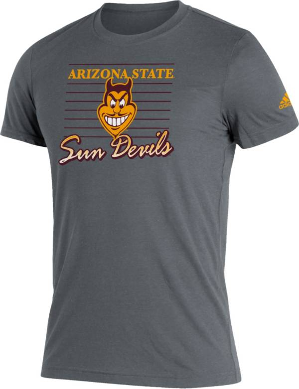 adidas Men's Arizona State Sun Devils Grey Script Retro Blend T-Shirt product image