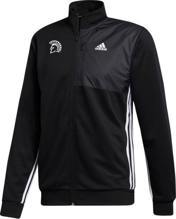 adidas Men's San Jose State  Spartans Transitional Full-Zip Track Black Jacket product image
