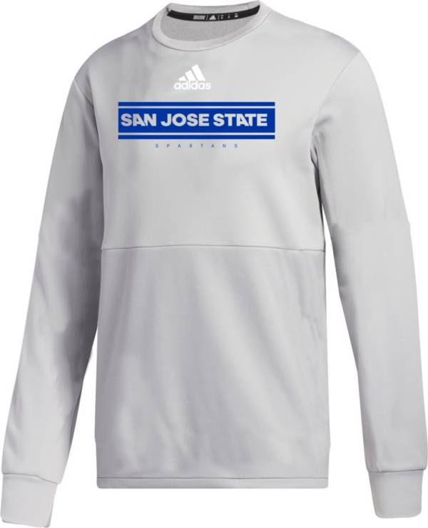 adidas Men's San Jose State  Spartans Grey  Team Issue Crew Pullover Shirt product image