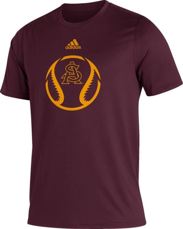 adidas Men's Arizona State Sun Devils Maroon Baseball Creator Performance T-Shirt product image