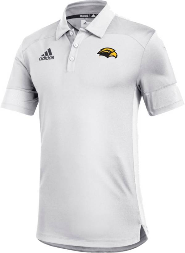 adidas Men's Southern Miss Golden Eagles Under the Lights Coaches Sideline White Polo product image