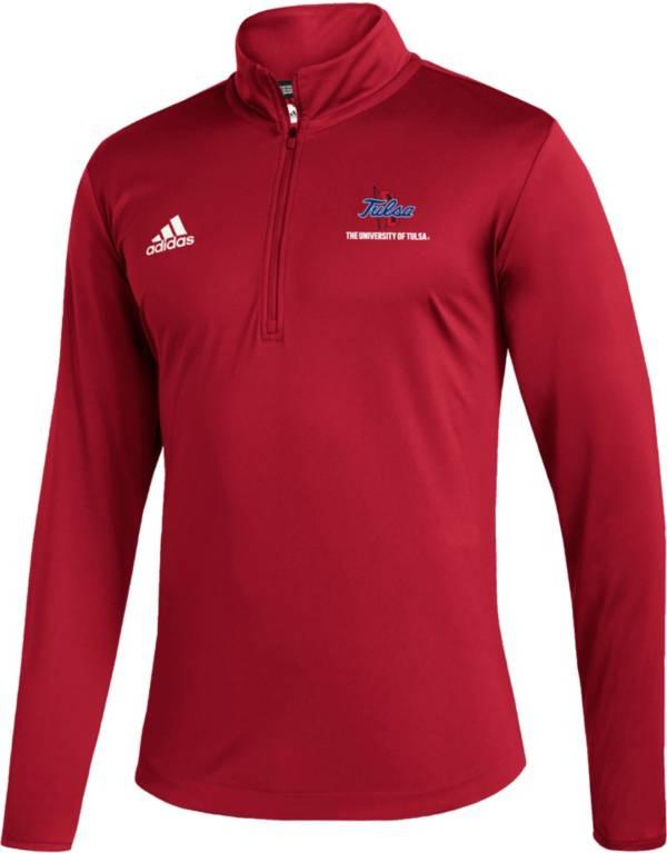 adidas Men's Tulsa Golden Hurricane Under Red Quarter-Zip Pullover product image