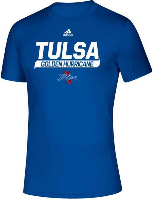 adidas Men's Tulsa Golden Hurricane Creator Blue T-Shirt product image