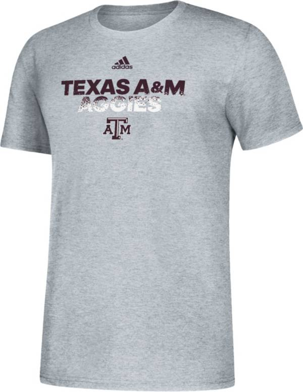 adidas Men's Texas A&M Aggies Grey Spray My Name T-Shirt product image