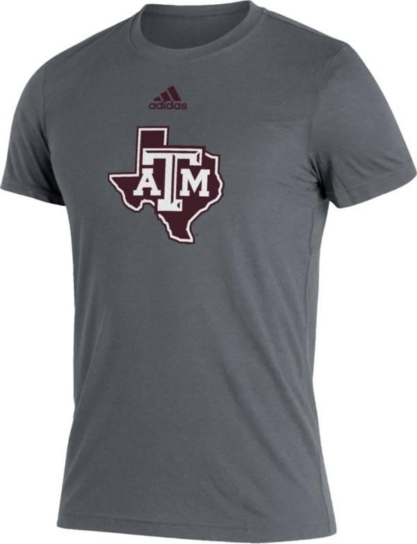 adidas Men's Texas A&M Aggies Grey Logo Blend T-Shirt product image
