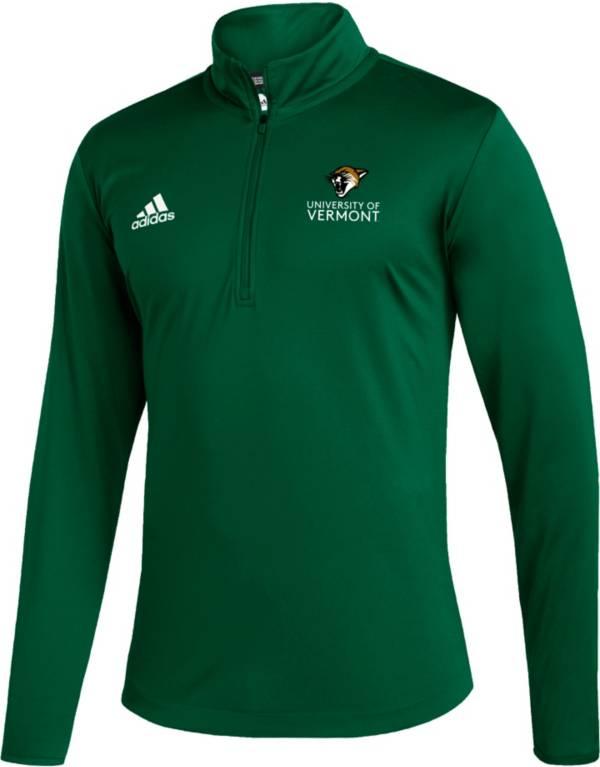 adidas Men's Vermont Catamounts Under Green Quarter-Zip Pullover product image