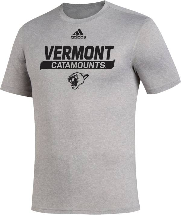 adidas Men's Vermont Catamounts Creator Grey T-Shirt product image