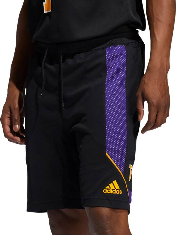 adidas Men's Washington Huskies Black Retro Basketball Shorts product image