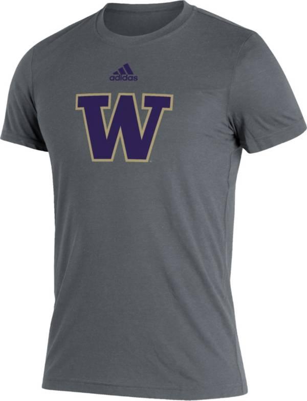 adidas Men's Washington Huskies Grey Logo Blend T-Shirt product image