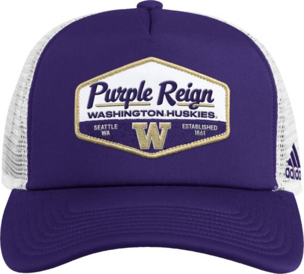 adidas Men's Washington Huskies Purple Foam Trucker Adjustable Hat product image