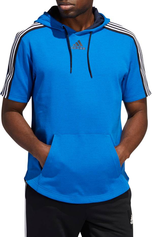 adidas Men's Post Game Lite Tape Short Sleeve Hoodie product image