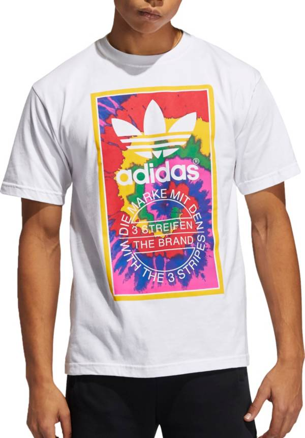 adidas Originals Men's Tie Dye Tongue Label T-Shirt product image