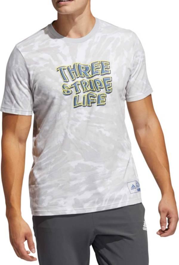 adidas Men's Three Stripe Life Short Sleeve T-Shirt product image