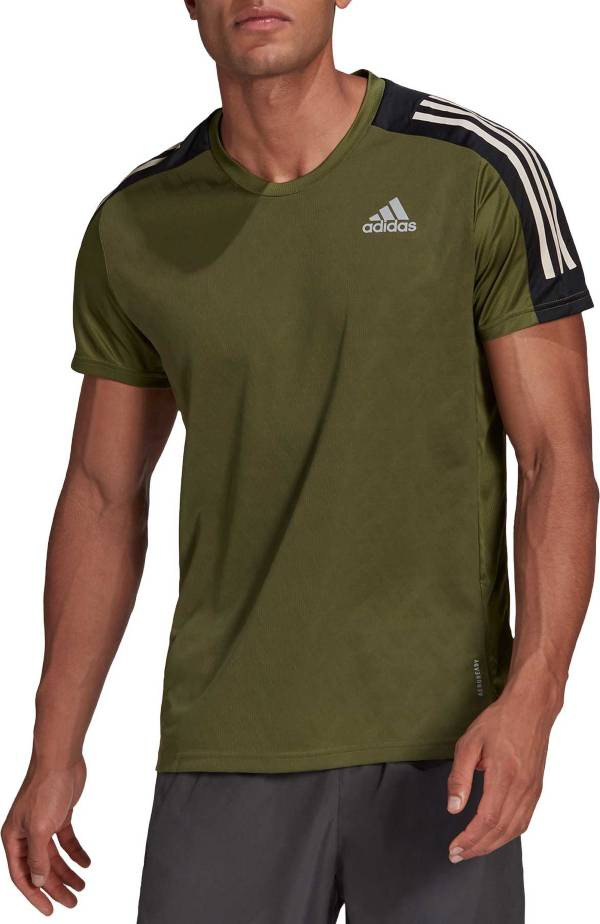 adidas Men's Own The Run 3-Stripes Iteration Short Sleeve T-Shirt product image