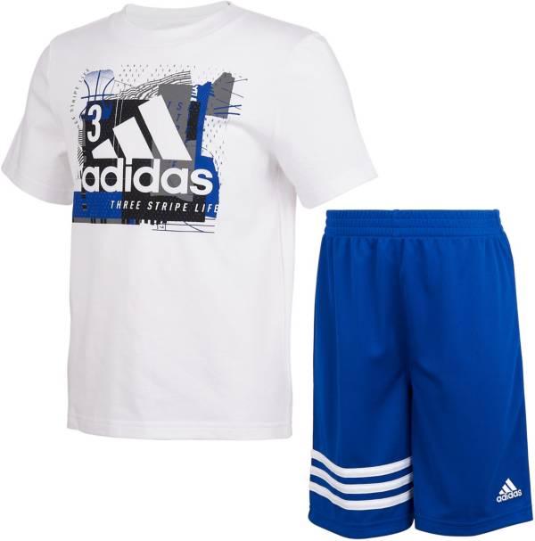 adidas Infant CTN Short Sleeve T-Shirt and Shorts Set product image