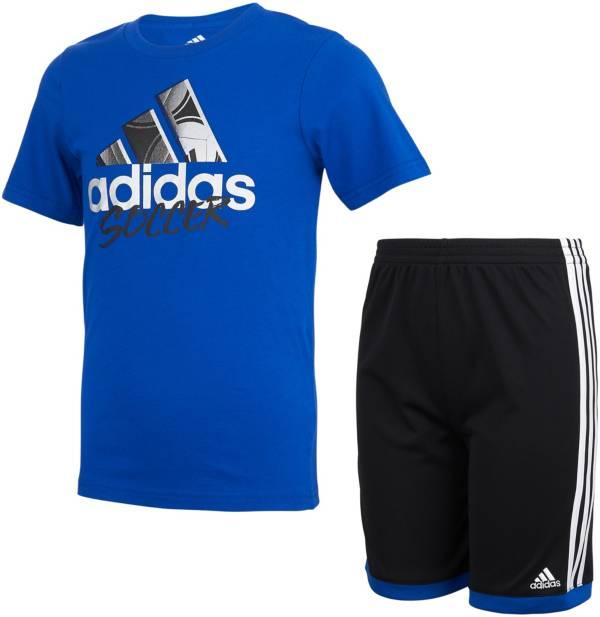 adidas Toddler Boys' Graphic Cotton Short Sleeve T-Shirt and Shorts Set product image