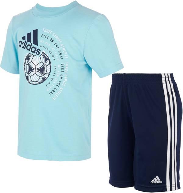 adidas Kids' Graphic T-Shirt Short Set product image