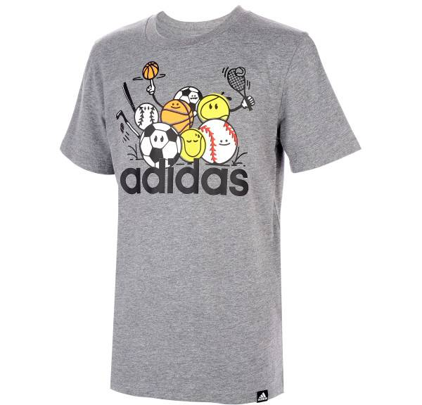 adidas Kids' All Here Heather T-Shirt product image