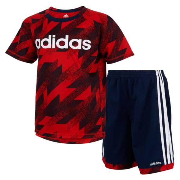 adidas Toddler Boys' Universal Clashed Short Sleeve T-Shirt and Shorts Set product image