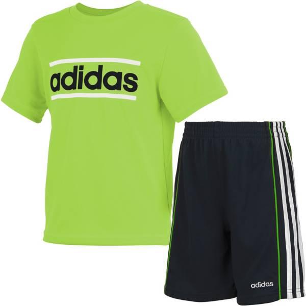 adidas Toddler Badge of Sport Short Sleeve T-Shirt and Shorts Set product image