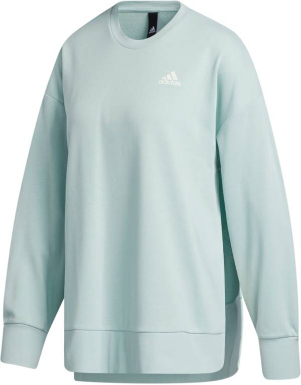 adidas Women's French Terry Split Tunic Crew Sweatshirt product image