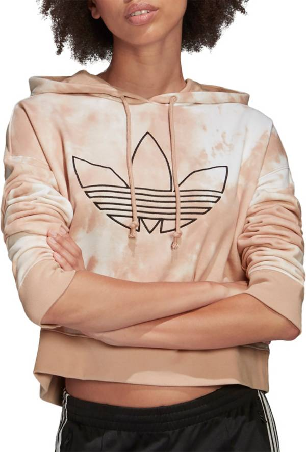 adidas Originals Women's Allover Print Cropped Hoodie product image