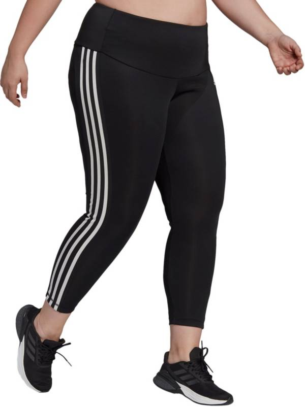 Adidas Women's High Rise 3-Stripes 7/8 Plus Size Tights product image