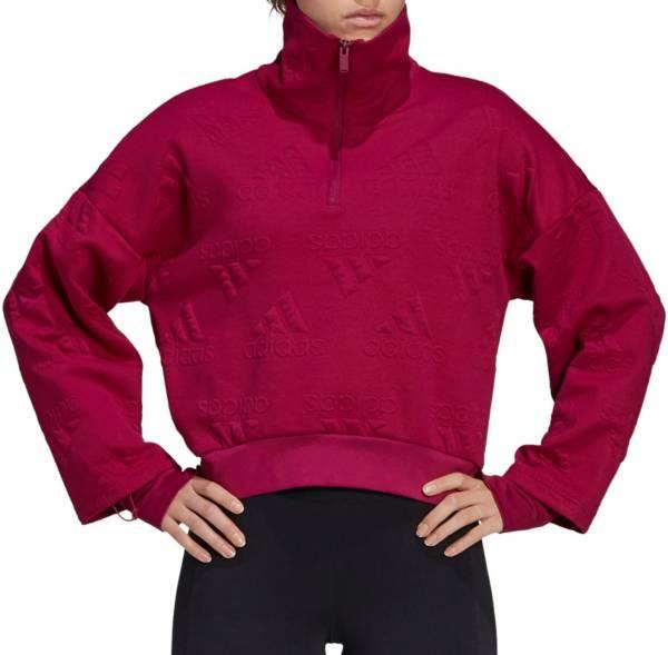 adidas Women's AEROREADY Jacquard Logo ½ Zip Sweatshirt product image
