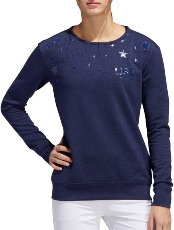 adidas Women's Americana Stars Golf Crewneck Sweatshirt product image
