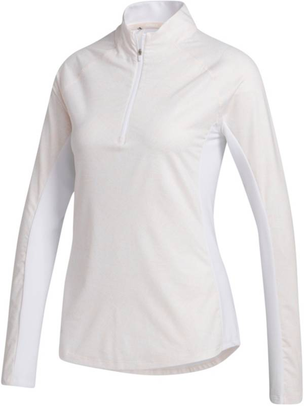 adidas Women's AEROREADY UPF Solid Long Sleeve Mock Neck Golf Shirt product image