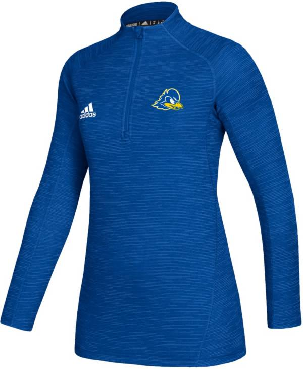 adidas Women's Delaware Fightin' Blue Hens Blue Game Mode Sideline Quarter-Zip Shirt product image