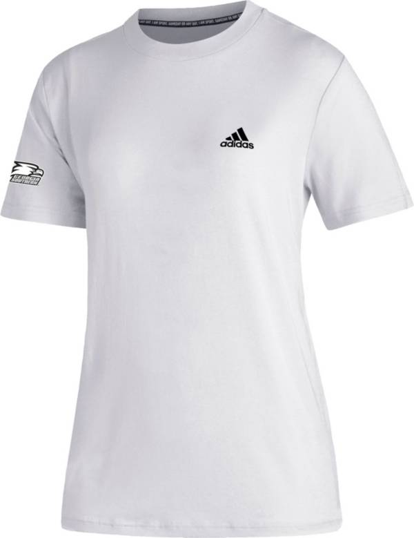 adidas Women's Georgia Southern Eagles Must-Have 3-Stripe White T-Shirt product image