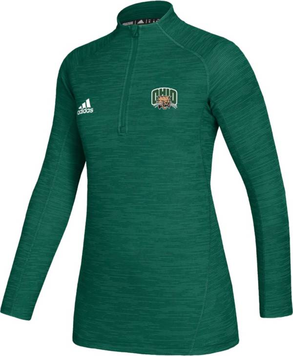 adidas Women's Ohio Bobcats Green Game Mode Sideline Quarter-Zip Shirt product image