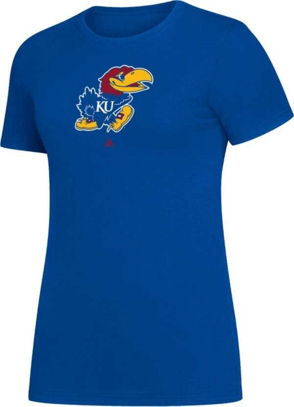 adidas Women's Kansas Jayhawks Blue Amplifier T-Shirt product image