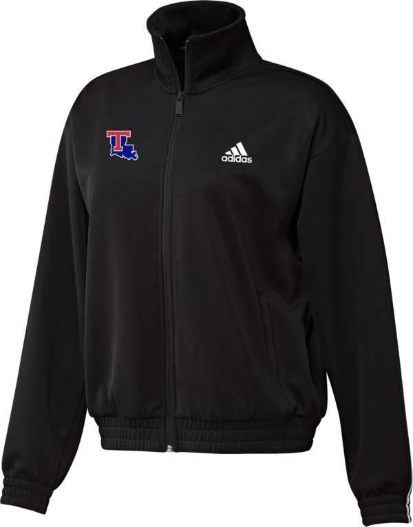 adidas Women's Louisiana Tech Bulldogs Snap Full-Zip Bomber Black Jacket product image