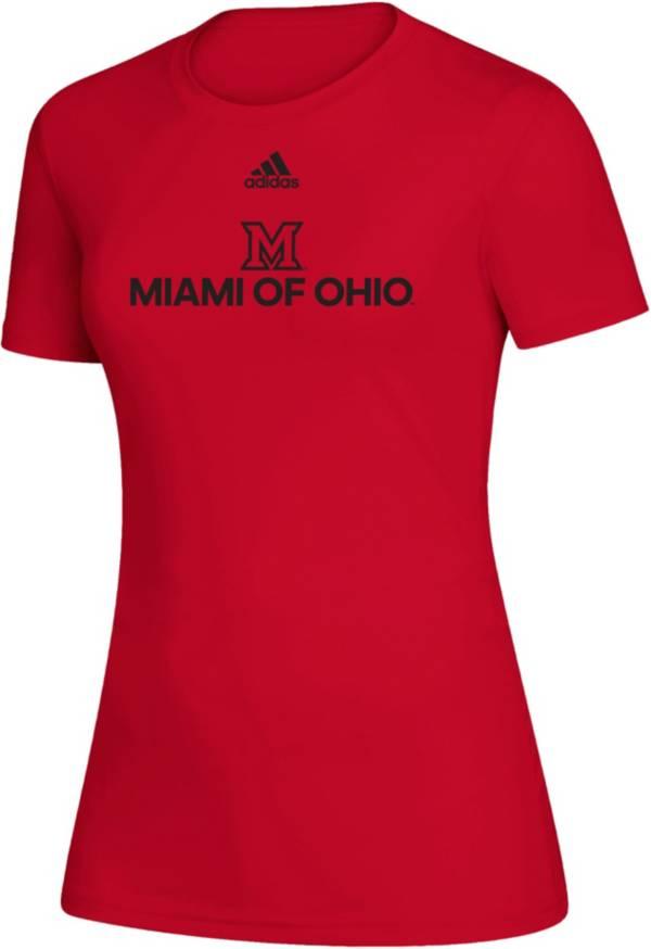 adidas Women's Miami RedHawks Creator  Red T-Shirt product image