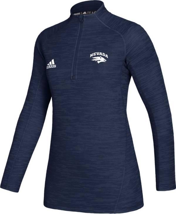 adidas Women's Nevada Wolf Pack Blue Game Mode Sideline Quarter-Zip Shirt product image