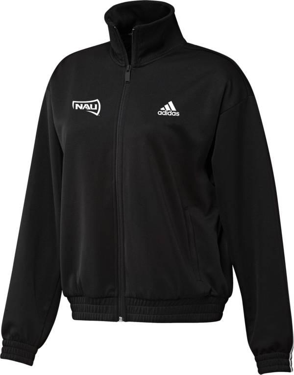 adidas Women's Northern Arizona Lumberjacks Snap Full-Zip Bomber Black Jacket product image