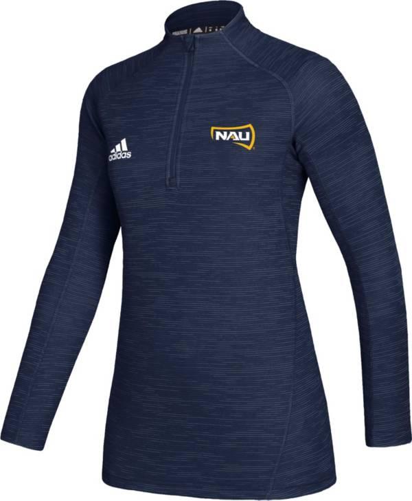 adidas Women's Northern Arizona Lumberjacks Blue Game Mode Sideline Quarter-Zip Shirt product image