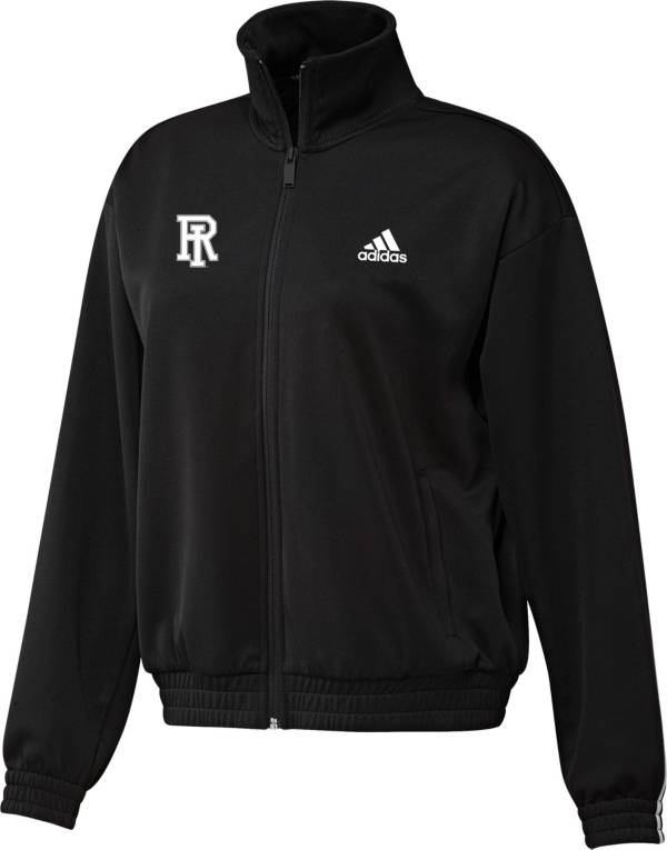 adidas Women's Rhode Island Rams Snap Full-Zip Bomber Black Jacket product image