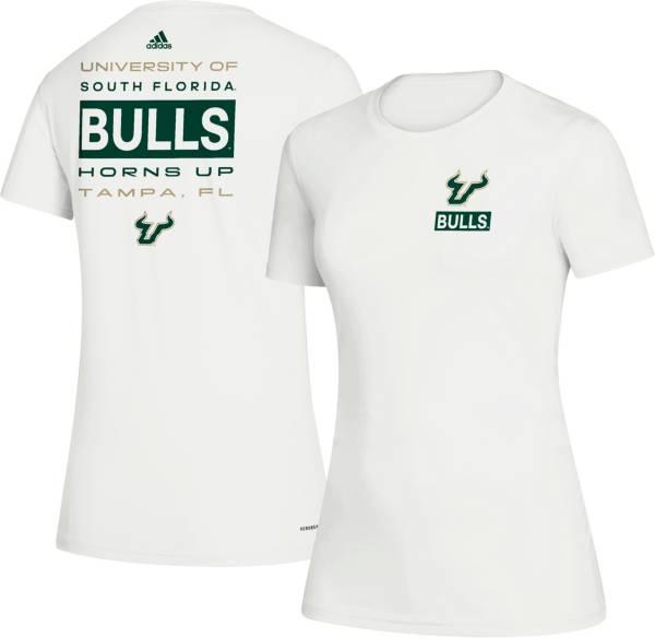 adidas Women's South Florida Bulls Creator Crew Neck White T-Shirt product image