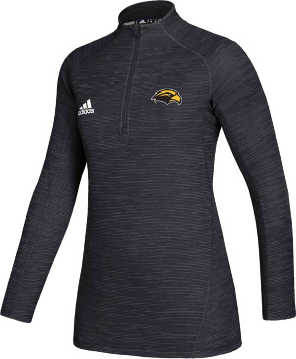adidas Women's Southern Miss Golden Eagles Black Game Mode Sideline Quarter-Zip Shirt product image