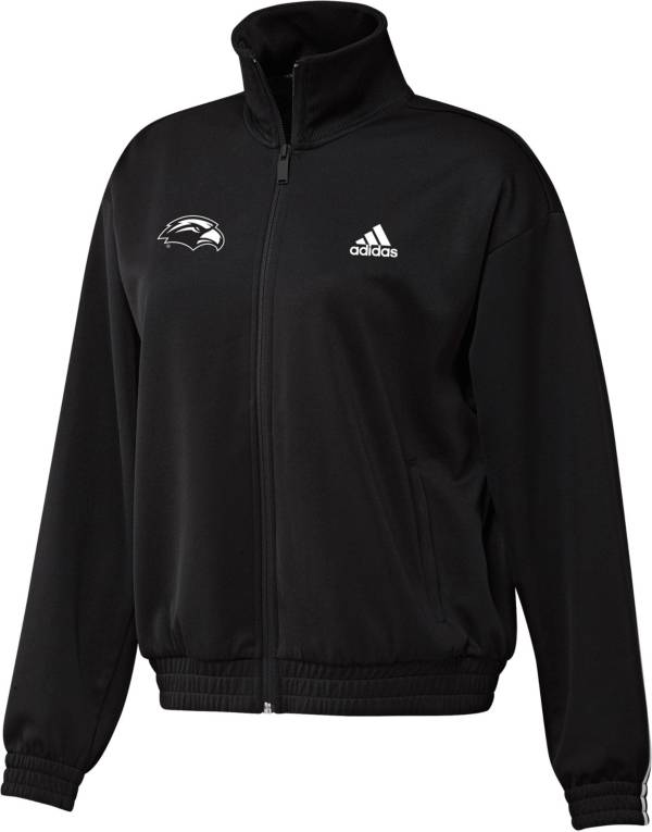 adidas Women's Southern Miss Golden Eagles Snap Full-Zip Bomber Black Jacket product image