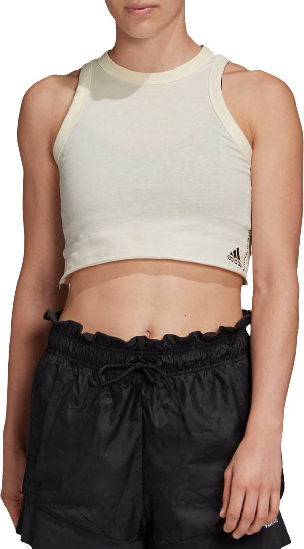 adidas Women's Recycled Cotton Cropped Tank Top product image
