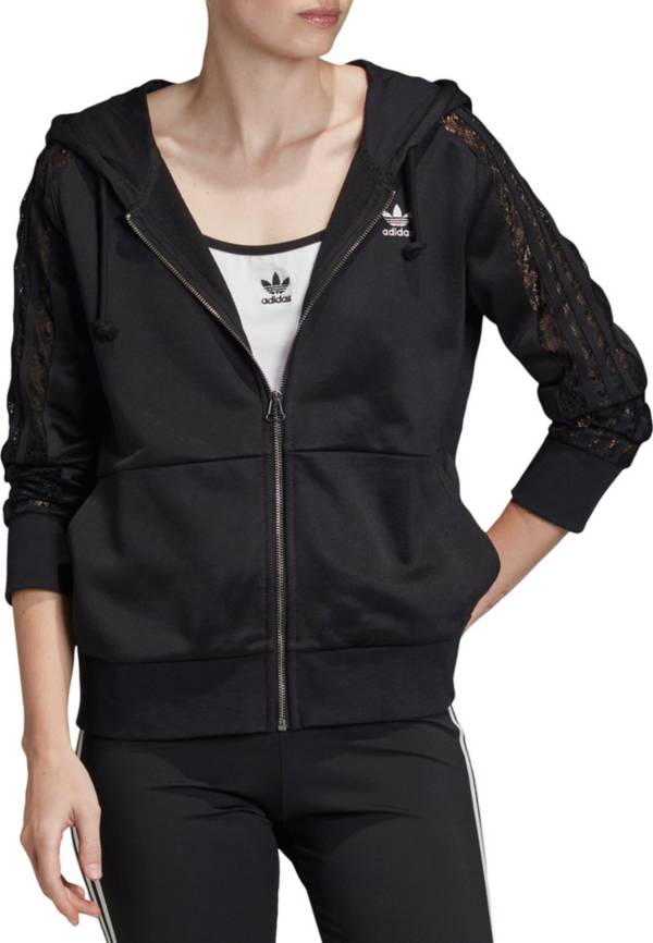 adidas Originals Women's Bellista Lace Full Zip Hoodie