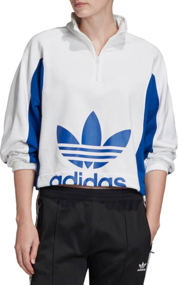 adidas Originals Women's Bellista 1/4 Zip Cropped Pullover product image
