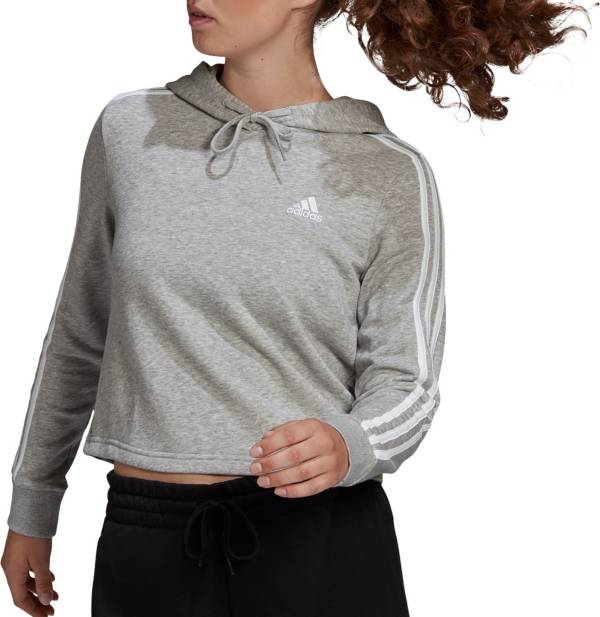 adidas Women's Essentials 3-Stripes Cropped Hoodie product image