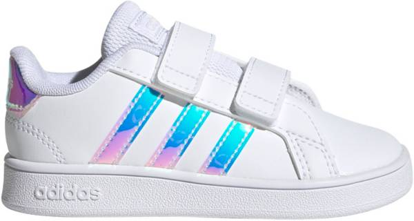 adidas Toddler Grand Court Sparkle Strap Shoes product image