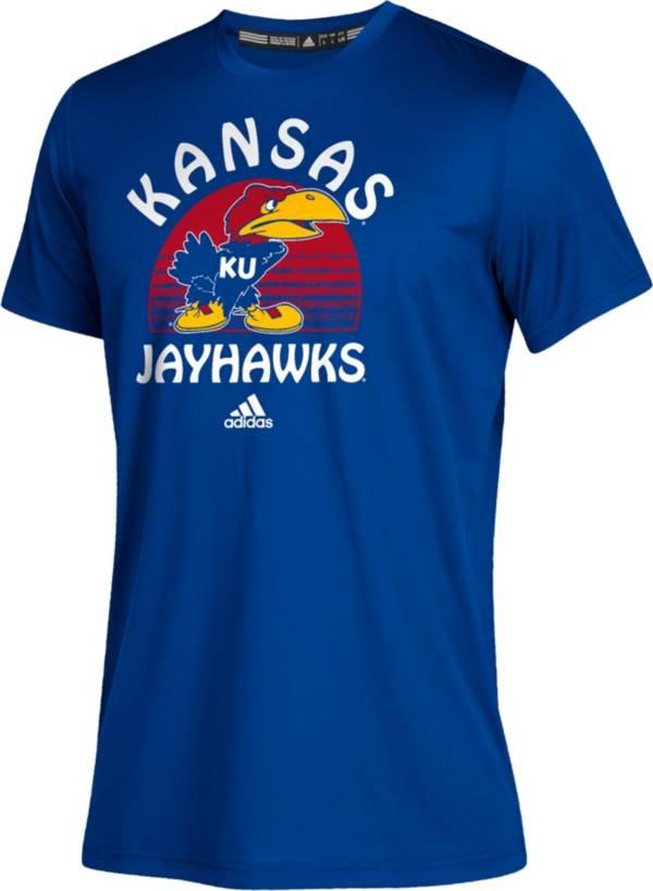adidas Youth Kansas Jayhawks Blue Grad Climalite Performance T-Shirt product image